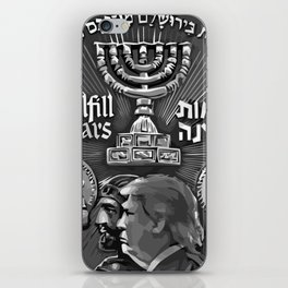 Trump Israel 70th Anniversary Temple Coin Art (Front Side) iPhone Skin