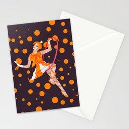 orange oddly Stationery Cards