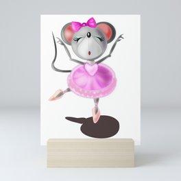 Little Ballerina Mouse Mini Art Print