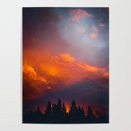 Bend Oregon: sunset & rainbow Poster