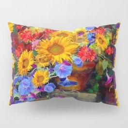 Glorious Sunflowers Wreath Design Still life Art Pillow Sham