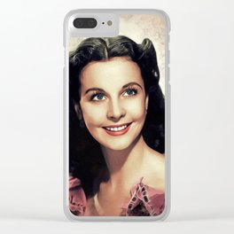 Vivien Leigh, Hollywood Legend Clear iPhone Case