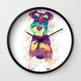 Schnauzer Art Wall Clock