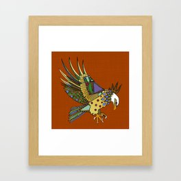 jewel eagle rust Framed Art Print