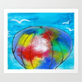 FLYING WITH THE BIRDS Art Print