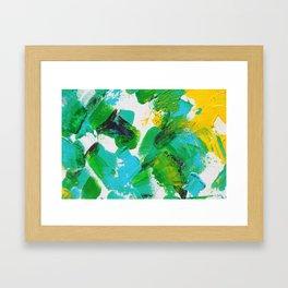 Summer Park Splatter with blur Framed Art Print