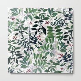 Green Natural Pattern Metal Print
