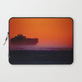 Container ship in the wind Laptop Sleeve