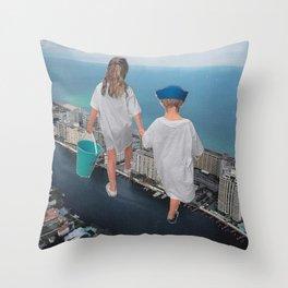 Bother & Sister Throw Pillow