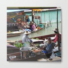 Floating Market Vendors Metal Print