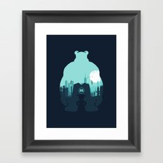 Welcome To Monsters, Inc. Framed Art Print
