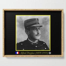 Aaron Gerschel- Portrait of Alfred Dreyfus Serving Tray