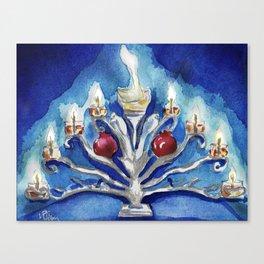 Menorah Canvas Print
