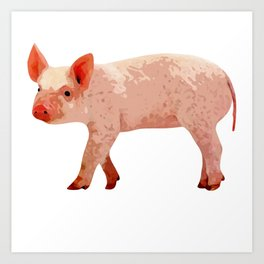 I love baby pigs! Art Print