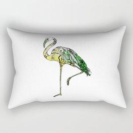 Yellow Flamingo Illustration Rectangular Pillow