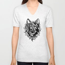 Abstract Wolf Unisex V-Neck