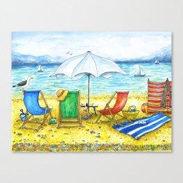Deckchairs Canvas Print