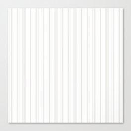 Creamy Tofu White Mattress Ticking Wide Striped Pattern - Fall Fashion 2018 Canvas Print