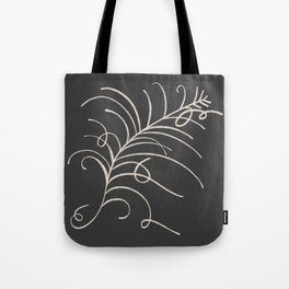 loopy feather Tote Bag