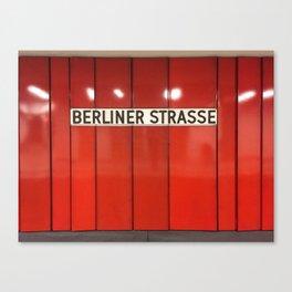 Berlin U-Bahn Memories - Berliner Strasse U7 Canvas Print