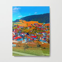 A villages sees red Metal Print