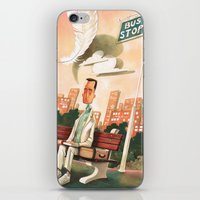 forrest gump iPhone & iPod Skins featuring Forrest Gump Tribute by Daniela Volpari