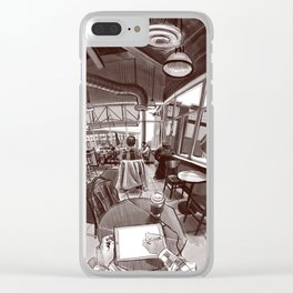 Coffee shop Clear iPhone Case
