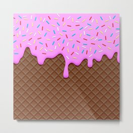 Chocolate and Strawberry Icecream Metal Print