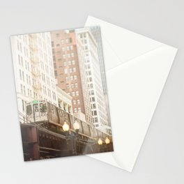 Chicago Train Photograph - 604 Stationery Cards