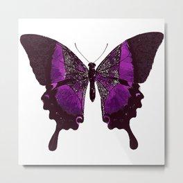 Fancy Purple Butterfly Metal Print