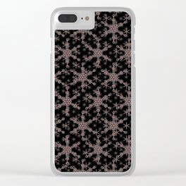 Snow flake of Ruby and Gold Clear iPhone Case