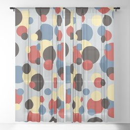 Colored Dots #1 Sheer Curtain