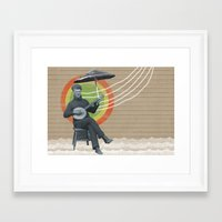 reggae Framed Art Prints featuring REGGAE MAN by one-of-the-good-ones