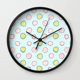 Cucumbers & Radishes Wall Clock