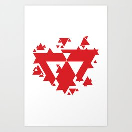 Red Triangles  Art Print