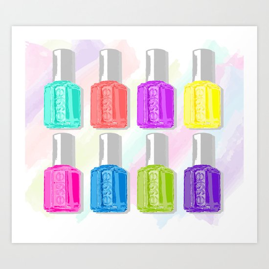 Essie Colors Art Print