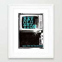 revolution Framed Art Prints featuring revolution by J Maurice