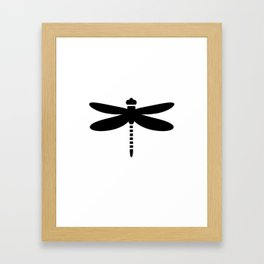Bugs: abstract Dragonfly Framed Art Print