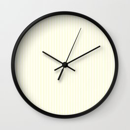 Large Vertical Pastel Lemon Yellow Princess Elizabeth Regal Stripe Wall Clock