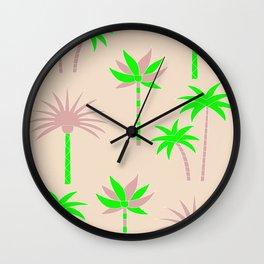 Palm Trees - Green & Neutral Wall Clock