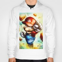 super mario Hoodies featuring Super Mario by markclarkii