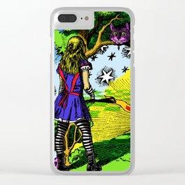 Starry Wonderland Clear iPhone Case