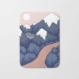 The twisting river in the mountains Bath Mat