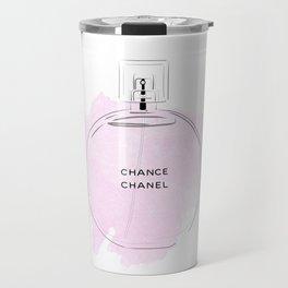 Round purple perfume Travel Mug