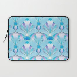 Blue Purple and Silver Art Deco Laptop Sleeve