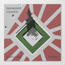 Monument Square Portland Canvas Print