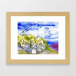Banana River Shoreline in Bloom Framed Art Print