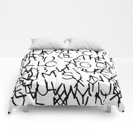 Stenciled Letters Comforters