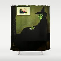 wicked Shower Curtains featuring Wizzler's Mother  |  Wicked Witch by Silvio Ledbetter