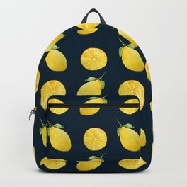 Watercolor Lemon Pattern Backpack